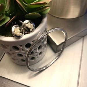 Trifari vintage Silver earrings & Bracelet…